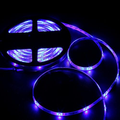 -RGB Color Flexible 16.4ft 5M 300leds 3528 SMD LED Strip Light IP65 Waterproof