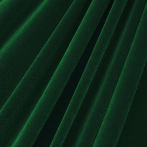 "Sold By The Yard 60/"" Hunter Green Velvet Flocking Drapery Upholstery Fabric"