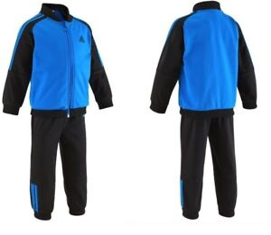 712e6df33ade3 Image is loading ADIDAS-TRACKSUIT-KIDS-BOYS-TODDLER-POLYESTER-BLUE-BLACK-