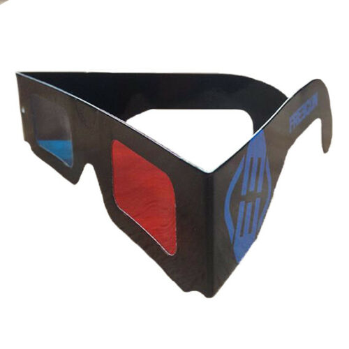 Freegun 3D Brille Papier 25Stück ideal auch für Partys,Junggesellenabschiede