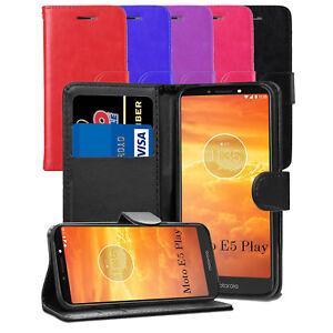 Pour-Motorola-Moto-E5-Play-5-2-034-Etui-portefeuille-en-cuir-Flip-Case-Cover-ecran
