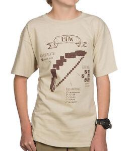 Official Mojang Sandbox Video Game Tee Minecraft Pickaxe Diagram Youth T-Shirt