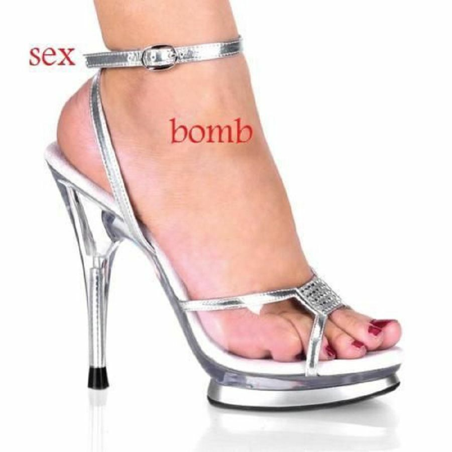 SEXY sandali argent plateau STRASS tacco13 numero 37 fashion GLAMOUR