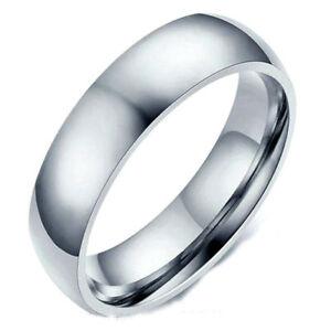 Détails Sur Bague Anneau Alliance Pacs Mariage Homme Femme Acier Neuve Pas Cher Miroir 6mm