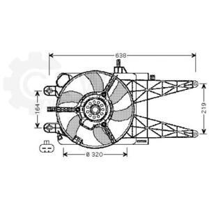 Fan Fan Engine Cooling Radiator Fan Blower Motor Fiat Punto Van 188AX