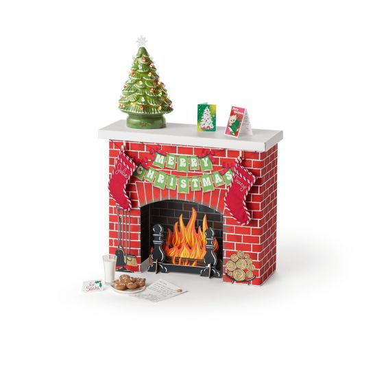 American Girl Julie's Christmas Fireplace NIB Urlaub Winter
