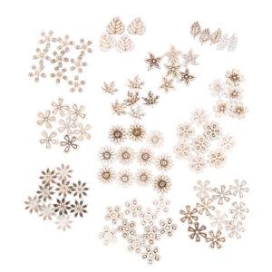 100pcs-mix-Plant-Flower-grass-pattern-wooden-Scrapbooking-diy-Handmade-Cra-PN