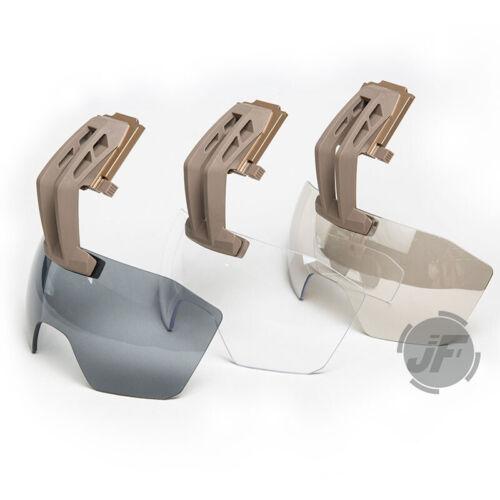 Tactical Helmet Goggles Anti-Fog Lens Fix Arm Visor Shield Fit L4 Wilcox Shroud
