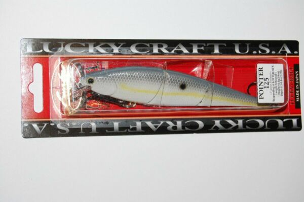 Lucky Craft LV-0 Chartreuse Shad Bass Bait Pike Walleye Zander
