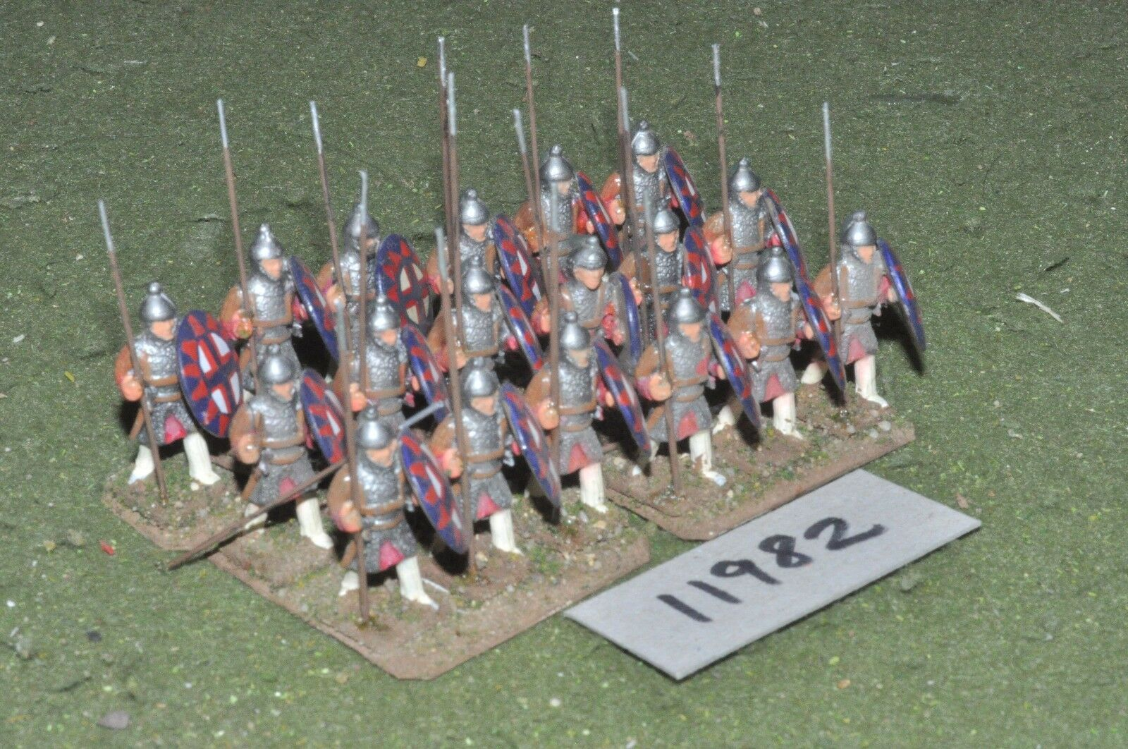 25mm dark ages   byzantine - infantry 18 figs - inf (11982)