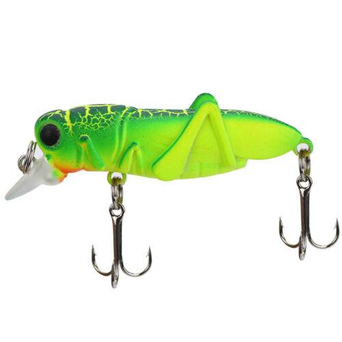 5.5cm//3.7g Floating Hard Cricket Fishing Lures Crankbaits Minnow Treble Hooks