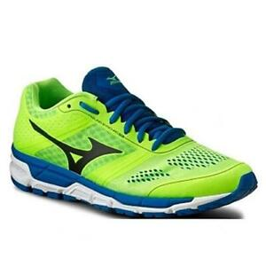 Mizuno-Synchro-MX-2-Running-Shoes-Men-039-s-J1GE161920-Nero-Green-Royal-Blue