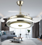 Modern-36-034-Invisible-Ceiling-Fans-with-3-Color-LED-Light-Fan-Chandelier-remote thumbnail 6
