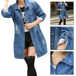 Blue-Fashion-Casual-Loose-Long-Sleeve-Denim-Jacket-Jeans-Coat-Outwear-Parka-US