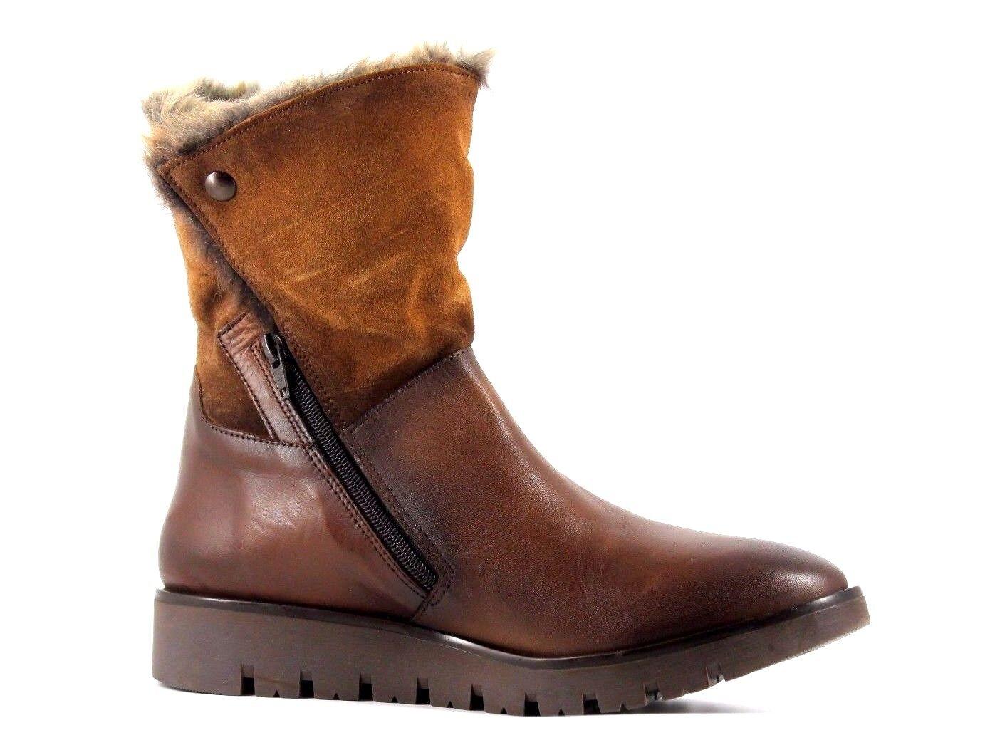 Caleidoscopio para mujer mujer mujer UK 7 EU 41 Marrón Cuero Y botas De Gamuza Piel Sintética a mitad de la pantorrilla c6c7fb