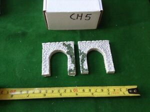2x N Scale Tunnel Portals Rough Stone Style -single Track Tunnels& Foliage
