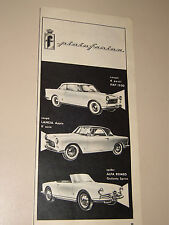PININFARINA LANCIA FIAT ALFA ROMEO=ANNI '50=PUBBLICITA=ADVERTISING=WERBUNG=492