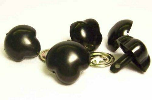 10 noses crafts Sassy Bears 18mm BLACK T-type Safety Noses for bears dolls
