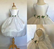 Flower Girl Wedding Bridesmaids Elegant Formal Pageant Recital Organza Dress #35