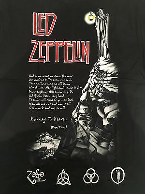 Official Led Zeppelin USA TOUR 77 T-Shirt 1977 Stairway To Heaven Hermit Rock