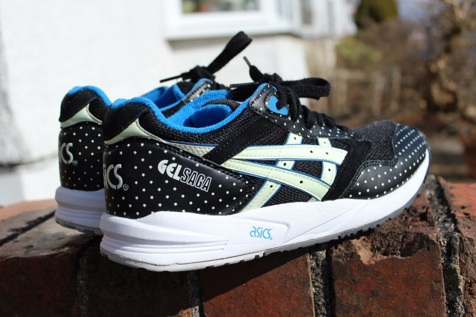 Asics Gel Saga Glow in The Dark Trainers Noir H4A0N6, 25.25CM, 40 EU, 7 US