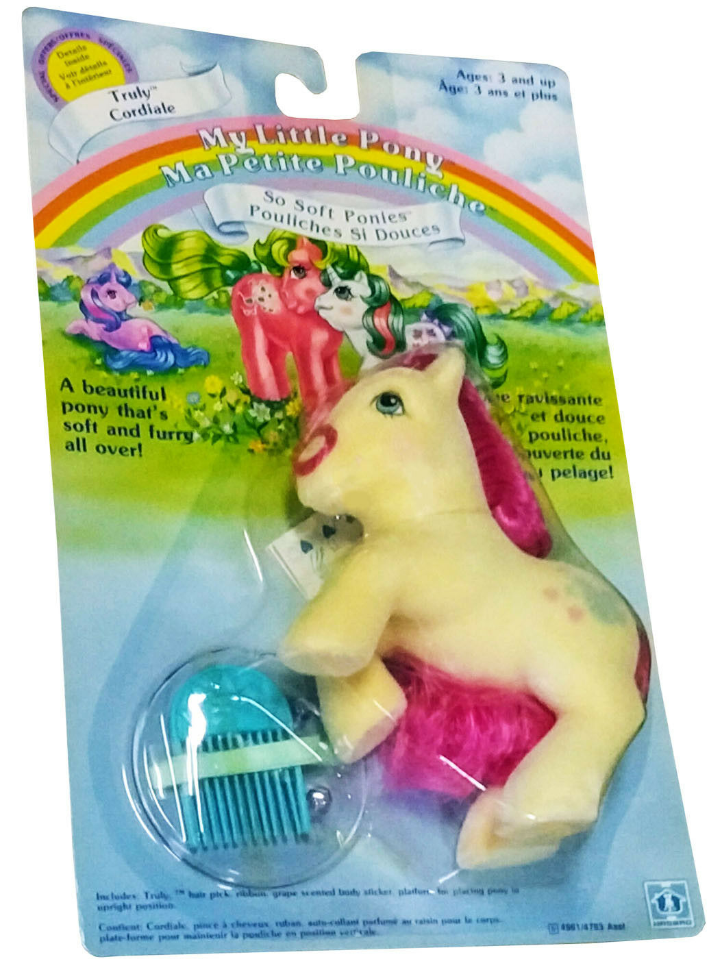 My Little Pony™ So Soft Ponies - Truly - Vintage 1986 - Mint on Sealed Card