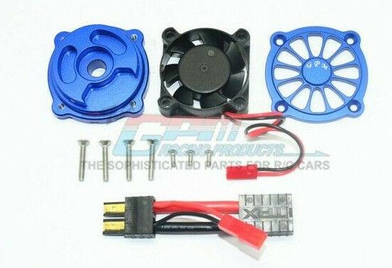 GPM Racing Traxxas UDR bluee Aluminum Motor Heatsink W  Cooling Fan UDR018FAN-B