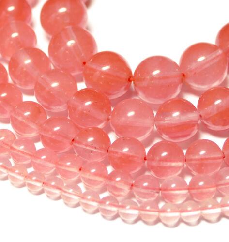 2-14 mm vieux rose 1 Strang Pierres Précieuses #4191 Cherry Quartz Perles Balles