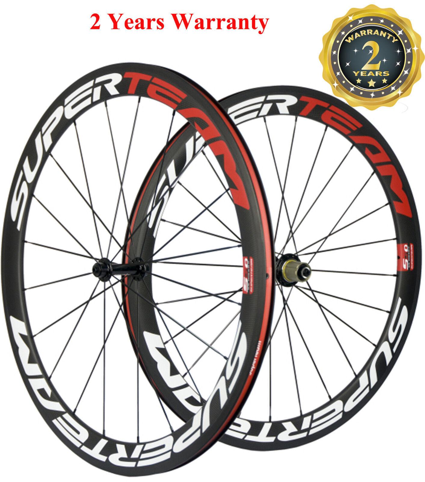 Superteam 700C  50mm Carbon Wheelset 25mm Width Roab Bike Wheels Cycling Wheelset  discount low price