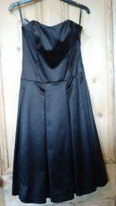 10 Prom Coast Size Metallic Dress Party Occasion strap Senza spalline Satin Brown P75xTw7B