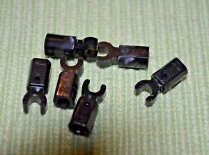 holes Bricks ~  Lego ~ NEW ~ Castle Dark Gray 1x4 Technic w// 3 8