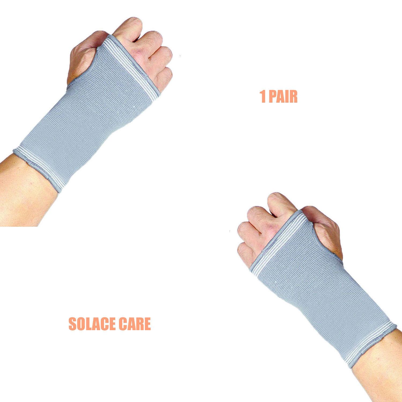 Solace Care 1 Paio Elastico POLLICE MANO POLSO Palma compressione Guanto Supporto Brace