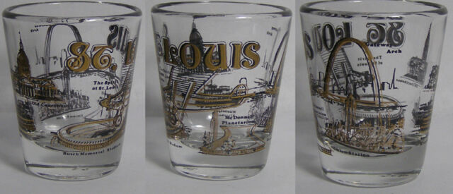 St. Louis Attractions Shot Glass #3079