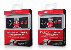 My Arcade GamePad Wireless Controller(Wii/Wii U/NES Classic Edition) 2 Pack New