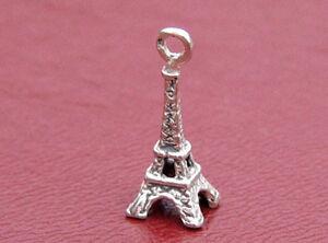 Eiffel-Tower-Charm-Sterling-Silver-3D-Paris-Vintage-France