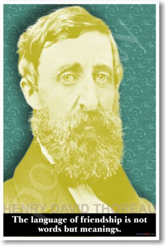 Henry David Thoreau Language of Friendship. NEW Motivational Classroom POSTER