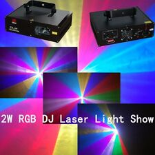 2W RGB Lazer light disco DMX512 Laser Light music stage laser light show