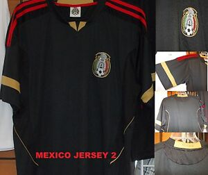 16bf1b91013 Image is loading Mexico-short-sleeve-soccer-jersey-Black-Mexico-Soccer-