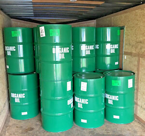 Organic-steel-metal-GO-GREEN-55-gallon-barrel-barrels-drum-drums-food-grade