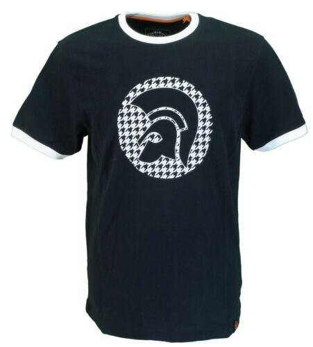 Trojan Records Mens Dogtooth Logo 100/% Cotton Peach T-Shirt