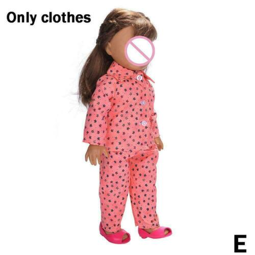 Cute Pajamas Nightgown Clothes Set For 18 inch Our Generation Doll T2I2