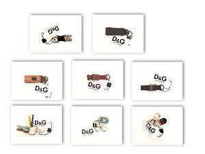 purchase cheap b3693 75bdf Dettagli su Portachiavi D&G Dolce&Gabbana logo in pelle e metallo