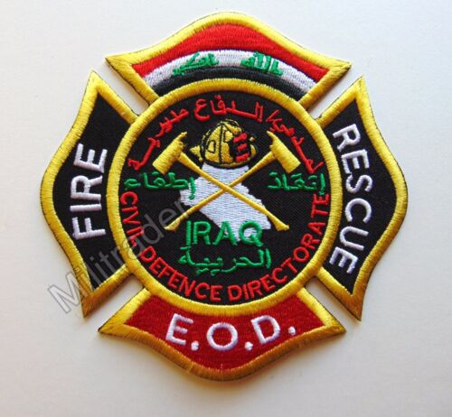 Patch Large EOD Iraqi Civil Defense Directorate Firefighter Fire and Rescue