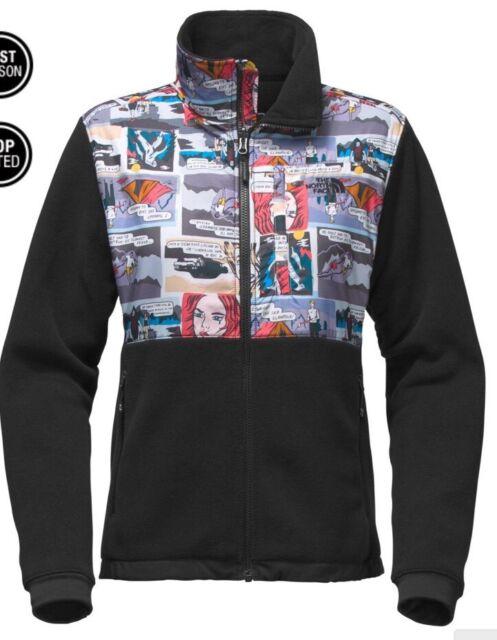 4b6f138a1 The North Face Denali Jacket Glamping Print Black Fleece Womens Small
