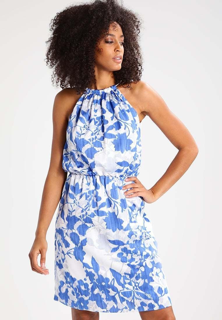Esprit Esprit Esprit Collection Summer Dress Bright Blau Größe 12 rrp  LS079 JJ 16 6d69dc