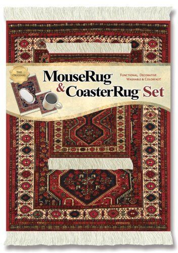 MOUSERUG MOUSE PAD COASTER RUG SET FREUD QASHQA/'I RUGS ORIENTAL FIBERLOK  SETS
