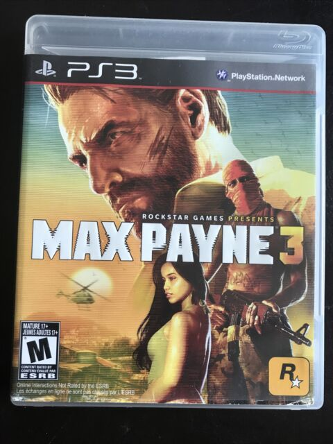 Max Payne 3 (Sony Playstation 3, 2012) Complete