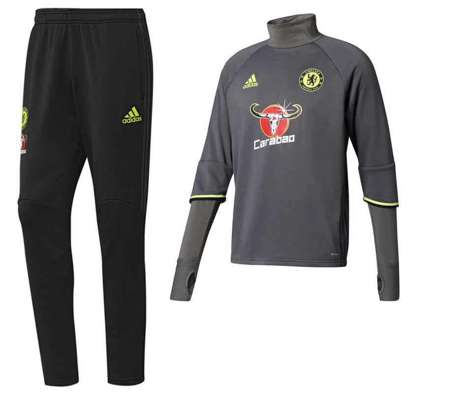 Adidas Chelsea  Training Set Trainingsanzug 1617, Farbe grey Schwartz - Gr. M