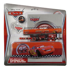 "Disney ""Cars"" Stationery Set - Pencil, Eraser, Sharpener, Ruler, Tin Pencil Case"