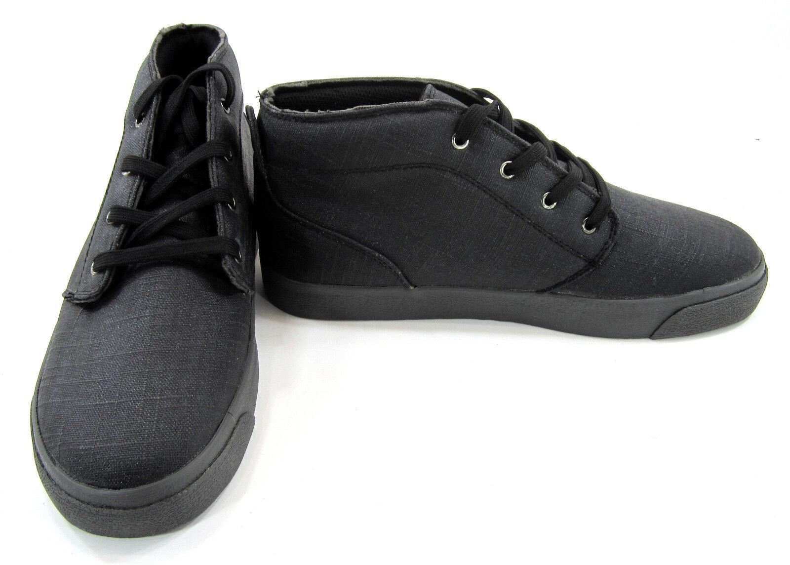 Lugz botas Rodillo mediados lienzo recubierto Negro Carbón Zapatos